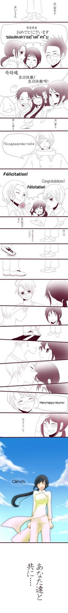 "She said:""Cảm ơn"" In English it means ""Thank u"".she's so cute~"
