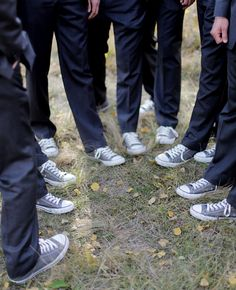 groomsmen in chuck tailors