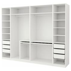 closet layout 443675000789613458 - IKEA PAX Armoire-penderie Source by Ikea Pax Wardrobe, Wardrobe Design Bedroom, Master Bedroom Closet, Bedroom Wardrobe, White Wardrobe, Wardrobe Storage, Bathroom Closet, Organize Bedroom Closets, Wardrobes For Bedrooms