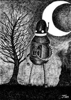 c9308bbe1a5 Von Monkey 1. The Runaway Robot Art