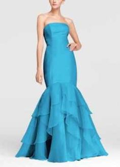 NEW!Strapless Fit and Flare Organza Dress Style F15342 In Stores and Online Buy Now $179.00