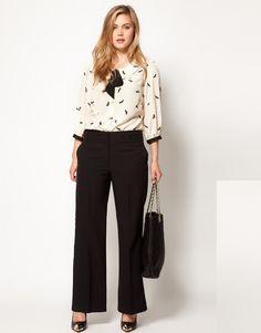 Asos Bi-stretch Clean Front Wide Leg - ShopStyle Plus Size Trousers Plus Size Womens Clothing, Plus Size Outfits, Plus Size Fashion, Size Clothing, Latest Fashion Clothes, Latest Fashion For Women, Fashion Outfits, Black Trousers, Trousers Women