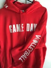 Game Day Hooded Sweatshirt Volleyball - RED / YM