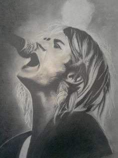 amazing drawing of Kurt Cobain