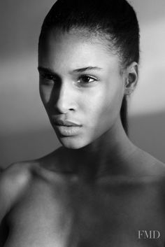 Photo of French fashion model Cindy Bruna. Straight Ponytail, French Models, Model Face, French Fashion, Fashion Models, Women Wear, Beautiful Women, Black And White, Celebrities