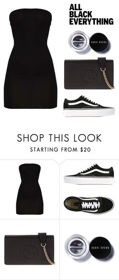 """Black as always"" by itsamandarose on Polyvore featuring Vans, Gucci and Bobbi Brown Cosmetics"