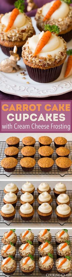 Carrot Cake Cupcakes with Cream Cheese Frosting-Spring is in the air! Okay, I know we�ve still got a ways but it�s been starting to warm up…