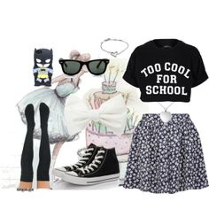"""""""Too Cool For School"""" by clauzzenlms on Polyvore"""