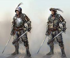 mercenary characters by chrzan666.deviantart.com on @DeviantArt