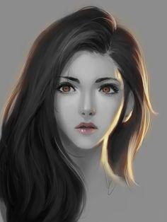 Elide Lochan [Doodle girl. by chaosringen on deviantART]