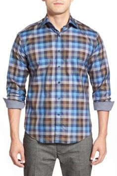 Shaped Fit Long Sleeve Sport Shirt