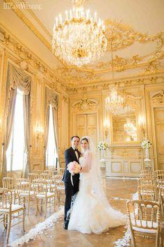 Gold Wedding Ceremony at the Shangri-La Paris Hotel | ElegantWedding.ca