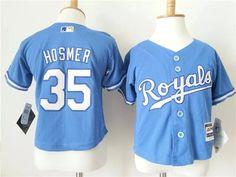 Toddler Royals #35 Eric Hosmer Light Blue Alternate 1 Cool Base youth MLB  Jersey