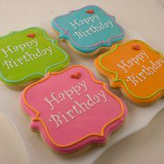happy birthday cookies (royal icing cookies birthday)
