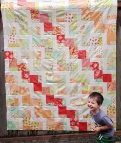 Moda Bake Shop: Stairway to Heaven Quilt by Jera of Quilting in the Rain.  Using Fig Tree & Co fabric 'Somerset
