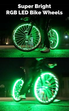 Why settle for just a few lights on your bike when you can load up your wheels with over 200 RGB LED lights! This is LED oversaturation and ridiculously impractical, but it sure is bright and colorful so why not?