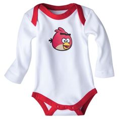 Angry+Birds+Newborn+Long-sleeve+Bodysuit+-+Red