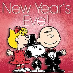 Charlie Brown - Snoopy & Sally - Happy New Years Eve
