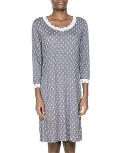 Flower Print Nightdress To My Mother, I Love Mom, Flower Prints, Tunic Tops, Lingerie, Casual, How To Make, Stuff To Buy, Clothes