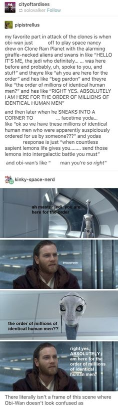 Best part of attack of the clones aside from Padme being a badass Star Wars Art, Star Wars Clone Wars, Star Wars Love, Star War 3, Star Trek, Jedi Code, Obi Wan, Lightsaber, Star Wars Humor
