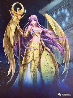 Athena No Seintho Anime Art Fantasy, Art Anime, Anime Art Girl, Fantasy Girl, Manga Anime, Mode Cyberpunk, Saga Art, Knights Of The Zodiac, Character Art