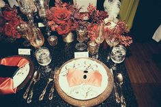 Beyonce shares a photo of a place setting at her mother Tina Knowles' 60th birthday party at Muriel's Jackson Square Restaurant in New Orleans on Jan. 11, 2014.