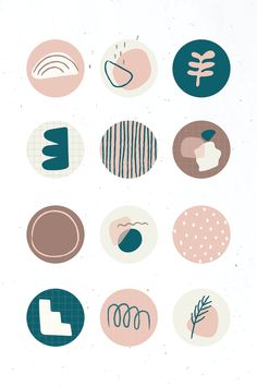 Instagram Frame, Free Instagram, Instagram Story, Hight Light, Instagram Highlight Icons, Story Highlights, Aesthetic Stickers, Abstract Shapes, Aesthetic Iphone Wallpaper