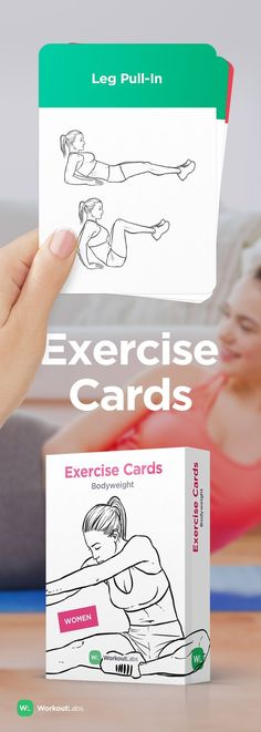 Simple no-equipment workouts anywhere anytime with EXERCISE CARDS – a must-have fitness accessory! Visit http://WLShop.co