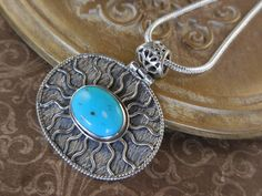 Turquoise Sterling Silver Pendant/Necklace