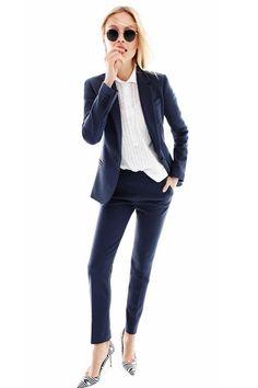Mujer señoras 2 Botón Stretch Slim Fit Escuela Informal Básico Pantalones de trabajo de oficina