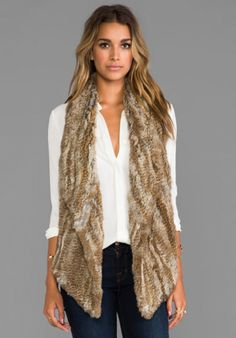 Elizabeth and James Menia Vest in Natural/Brown from REVOLVEclothing.com