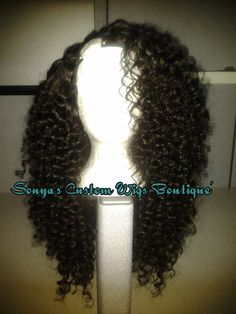 100 Custom Curly Brazilian UPart Wig by SONYASCUSTOMWIGS on Etsy, $365.00