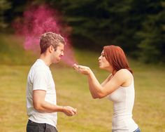 A Fun-Filled Outdoor Engagement Session - Complete With Color Fight | Fritz Photography | Reverie Gallery Wedding Blog