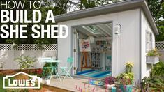 Awesome Tiny House Plans On Wheels Free Tiny House Plans On Wheels Free . Awesome Tiny House Plans On Wheels Free . She Sheds Plans for How to Build & Customize Building A Storage Shed, Building A Garage, Outdoor Storage Sheds, Backyard Storage, Shed Design Plans, Diy Shed Plans, Storage Shed Plans, Barn Plans, Storage Ideas