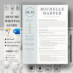 Sales Assistant Resume with Logo. Account Manager CV & Simple Resume Design with Cover Letter and References Page | Eirify Cover Letter Format, Cover Letter Template, Letter Templates, Resume Layout, Resume Writing, Writing Tips, Cv Simple, Simple Resume, Modern Resume Template