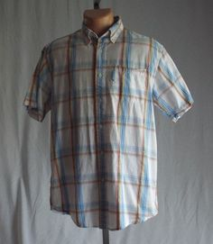 US Polo Association Mens Button Down Short Sleeve Plaid Shirt S  #USPoloAssn