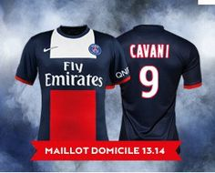 2013-2014 Paris Saint-Germain Nike Home Football Shirt (9 Cavani) http 715bf0dca