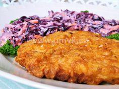 Červený Coleslaw s řízky na jižanský způsob – U Miládky v kuchyni Macaroni And Cheese, Cabbage, Grains, Menu, Rice, Chicken, Vegetables, Ethnic Recipes, Milan