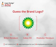 """This is a leading multinational oil and gas company. It widely considered to be one of the biggest energy companies in the world, They has operations in over 80 countries, producing 3.4 million barrels of oil equivalent per day. This logo consisted of a ""Helios"" (ancient Green god of the sun who drove his chariot across the sky each day) symbol which featured a green and yellow sunflower epitomizing energy in its various forms."" #logodesignartist www.logodesignartist.com"