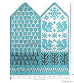 Knitted Mittens Pattern, Crochet Mittens, Crochet Gloves, Knitting Charts, Knitting Stitches, Knitting Socks, Knitting Patterns, Knit Art, Fair Isle Knitting