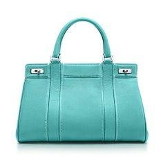 Genevieve satchel in Tiffany Blue? grain leather.