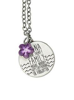 Disney Lilo & Stitch Ohana Flower Necklace,
