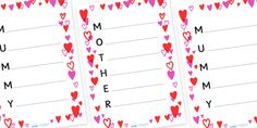Mother's Day Acrostic Poem Template  - twinkl