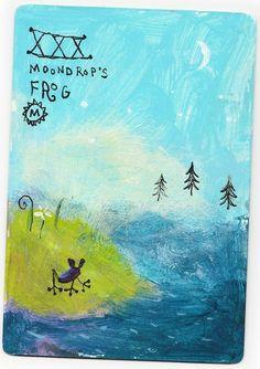 ムーンドロップのカエル…空から森に魔法の粒が降ると、姿を現します。森はいつでも、不思議に美しい魔法で満ち溢れているのです。それは…静かな…静かな…三日月の…風が止んだ夜…美しい森の天空より…音も無く…一粒づつ…透き通った滴が降り注ぎます…ムーンドロップのカエルが…心弾ませ…嬉しくて…愛しくて…喉を鳴らし歌います…かわいらしい歌声に…滴達は…フルフルと…共振し…ささやかな奇跡が…森のあちらこちらに拡がります…傷付き疲れ果て眠るものにも…スヤスヤと…安らかな寝息をたてるものにも均等に…目覚めの時が来たら…皆が笑顔に輝き…煌めく…そんな奇跡が…