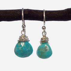 Turquoise Wire Earrings | Wallin & Buerkle