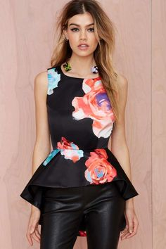 Nasty Gal Bloom and Board Peplum Top | Shop What's New at Nasty Gal