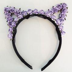 Floral Cat Ear Headband