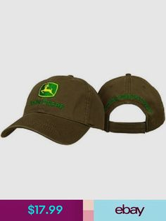 JOHN DEERE  BROWN TWILL  TRADEMARK LOGO Twill CAP HAT  BRAND NEW 084990808a90