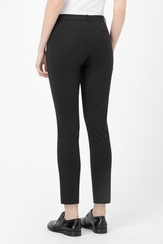 Slim cotton trousers