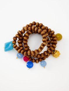 Alanna Bess bracelet $315 #wood #beads
